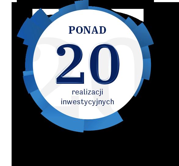 Ponad 20 realizacji inwestycyjnych